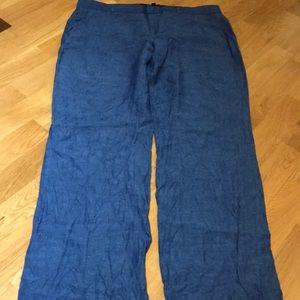 Banana republic linen blue Logan style pants